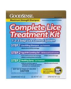 GoodSense Complete Lice Treatment Kit, Three Step Lice Elimination Kit