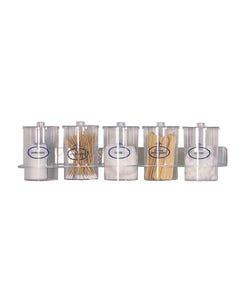 Acrylic Sundry Jars and Wall Rack