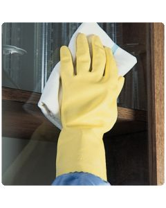 Latex Housekeeping Gloves, Powder-Free