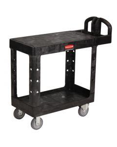 Utility Cart Flat Shelf Black