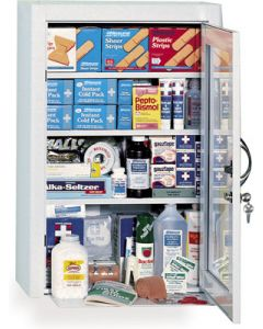 4-Shelf First Aid Cabinet with Locking Door