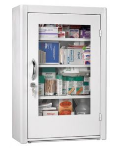 Blank Unfilled First Aid Cabinet