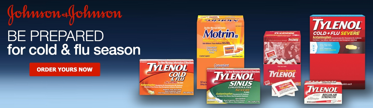 Johnson and Johnson Cold and Flu Banner